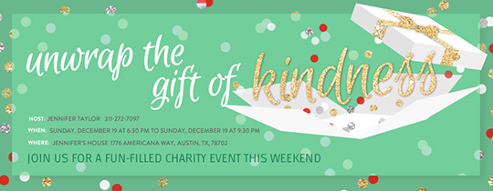 Kindness Gift Holiday Invitation