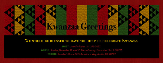 Kwanzaa Greetings Invitation
