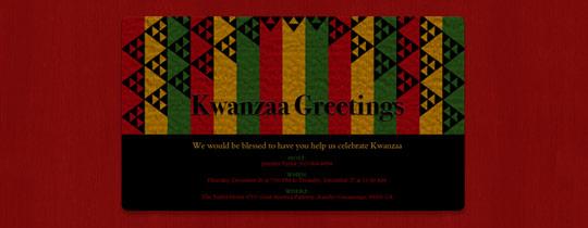 Kwanzaa Greetings Invitation