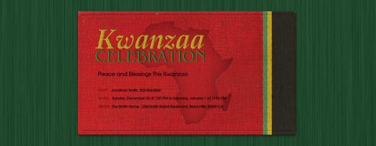 Kwanzaa Map Invitation