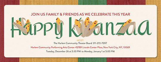 Kwanzaa Muhindi Invitation