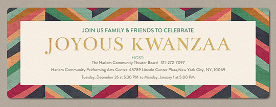 Kwanzaa Pattern Invitation