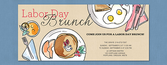 Labor Day Brunch Invitation