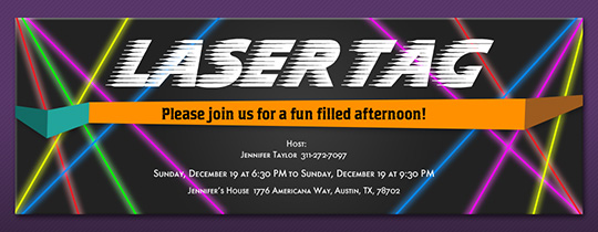 Laser Tag Invitation