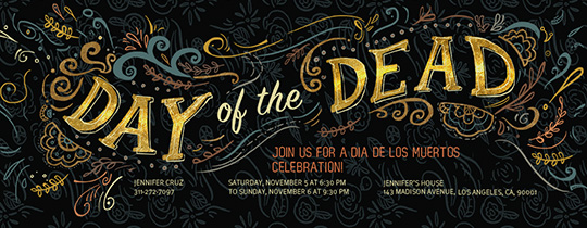 Laurel Day of the Dead Invitation