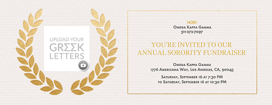 Free Sorority Fraternity Online Invitations Evite