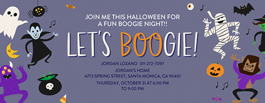 Let's Boogie Invitation