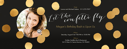 Let the Confetti Fly Invitation