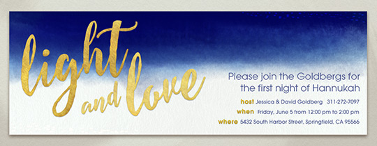 Light and Love Dip Dye Invitation
