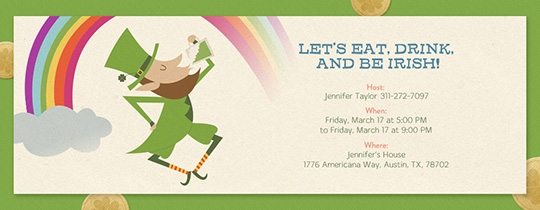 Lucky Leprechaun Invitation