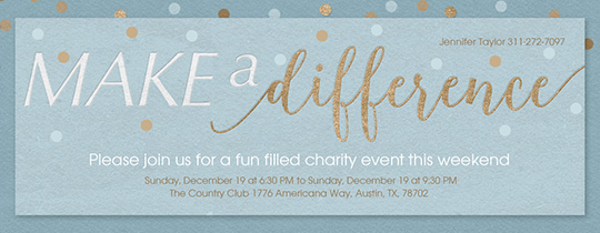 free charity event  u0026 fundraiser online invitations