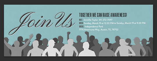 March With Us Invitation