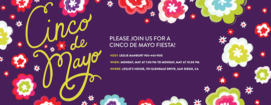 Mayo Flores Invitation