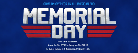 Memorial Day Invitation