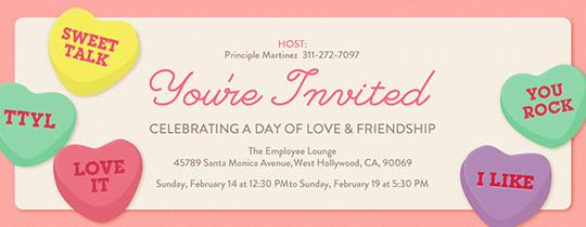 Free Valentines Day Online Invitations