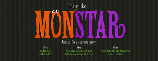 Monstar Mash Invitation
