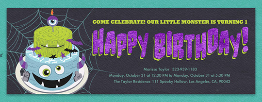 Monster Cake Invitation