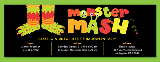 Monster Mash Invitation