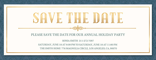 Save The Date Birthday Free Online Invitations - Save the date holiday party templates free