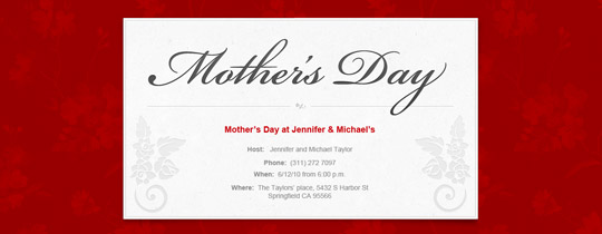 Mother's Day Vines Invitation