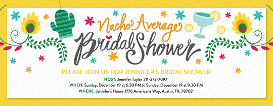 15399b46975 Nacho Average Bridal Shower Invitation