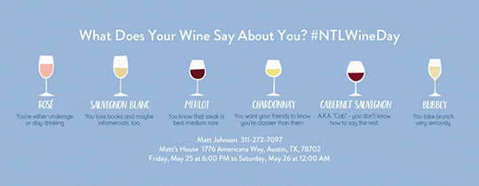 National Wine Day 5/25 Invitation