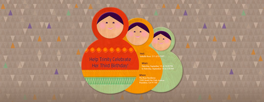 Nesting Dolls Invitation