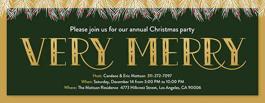 Very Merry Invitation