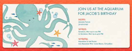 Octopus Invitation