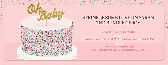 invitation maker baby shower