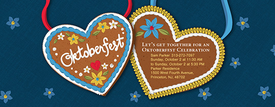 Oktoberfest Cookie Invitation