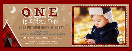 One Is Smore Fun Invitation
