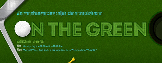 On The Green Invitation