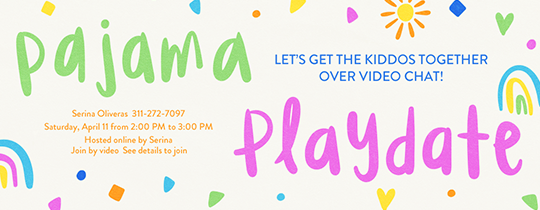 Pajama Playdate Invitation