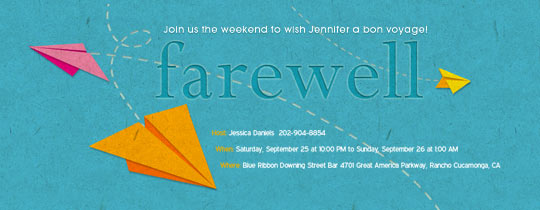 Free Retirement And Farewell Party Invitations