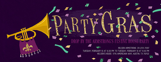 Party Gras Invitation