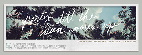 Party Sun Invitation