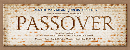 Passover Matzo Invitation