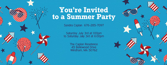Patriotic Summer Invitation