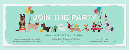 pawty invitation