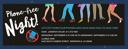 Phone Free Night Invitation