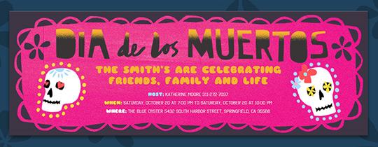 Free Dia De Los Muertos Online Invitations Evite Com
