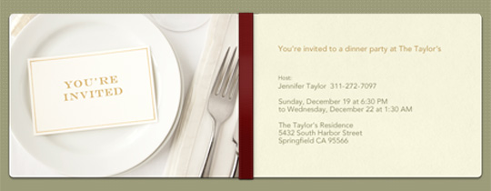 Place Setting Invitation
