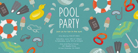 Pool Necessities Invitation