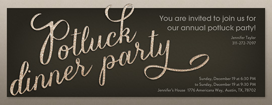 Potluck Dinner Party Invitation