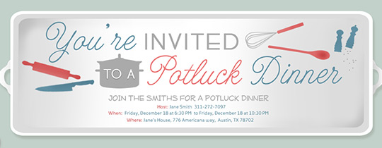 Potluck Serving Tray Invitation