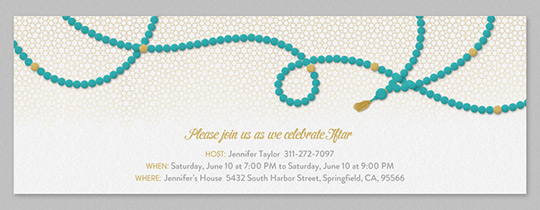 Prayer Beads Invitation