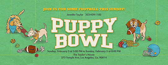 Puppy Bowl Invitation