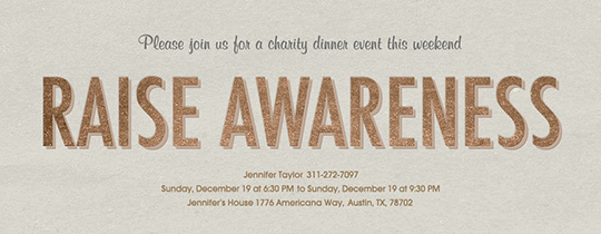 Raising Awareness Invitation