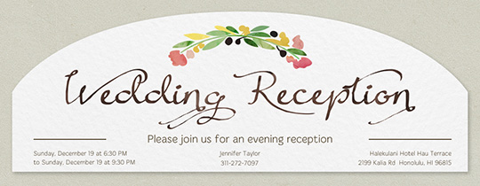 Reception Flora Invitation